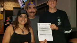 Seth Chavez Signs Letter Of Intent To Play Baseball For Eastern Arizona College. Pictured (from left to right) Seth's Mother - Denys Chavez, Seth's Father - Greg Chavez Jr., and Seth Chavez