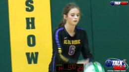 Blue Ridge Hitter Amanda Carlson prepares to serve during their game against Show Low