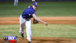 Blue Ridge Pitcher Timmy Barber Records the 8-6 Win to upset Snowflake on April 9th, 2021