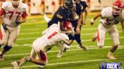 Round Valley Elk Seth Wiltbank Runs against the Redskins in last year's Rivalry Game. RV won 38-12